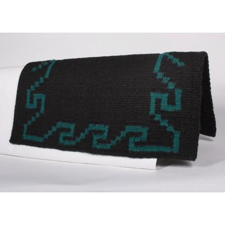 Black And Dark Jade Patterned Premium Show Blanket