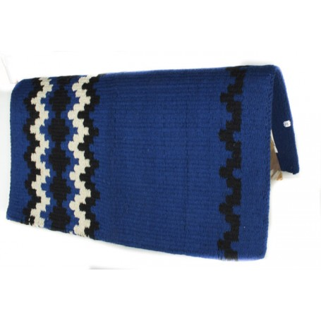 Blue With Black And White Design Premium Show Blanket