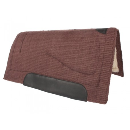 Dark Brown Heavy Duty Thick Wool Western Saddle Pad