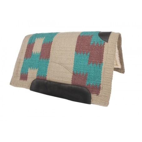 Turquoise Brown Heavy Duty Thick Wool Western Saddle Pad