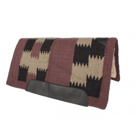 Brown Tan Black Heavy Duty Thick Wool Western Saddle Pad