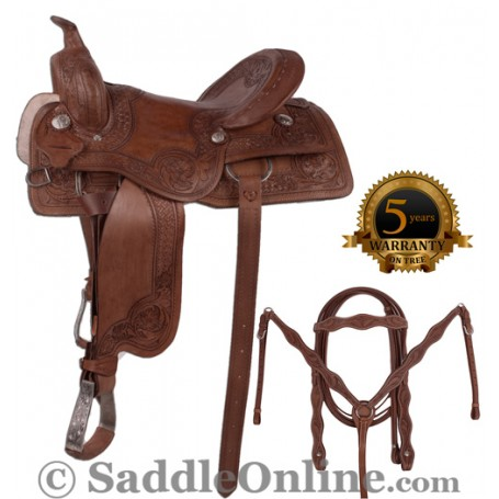 New Pro Cutter Work Ranch Pleasure Saddle 16 17