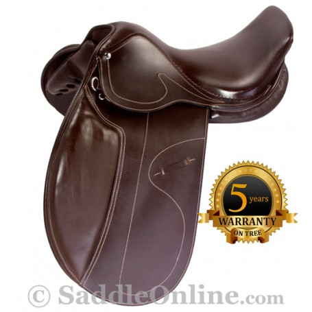 NEW Brown All Purpose Eventing Dressage Horse Saddle 16