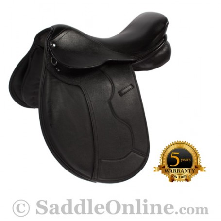 NEW Black All Purpose Eventing Dressage Horse Saddle 16.5