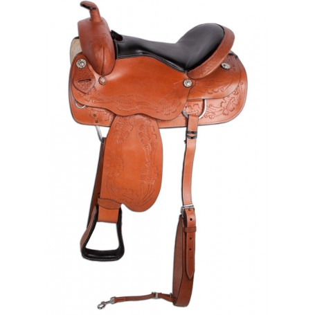 New Brown Comfortable Pleasure Trail Saddle 17 18