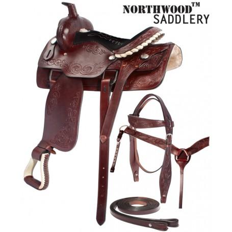 New Premium Dark Brown Western Pleasure Ranch Work Saddle