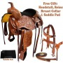 Hand Carved Western Pleasure Ranch Work Trail Saddle 17