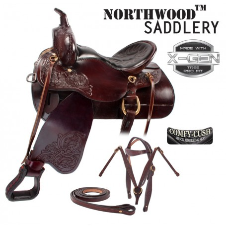 Dark Brown Comfortable Trail Endurance Western Saddle 16