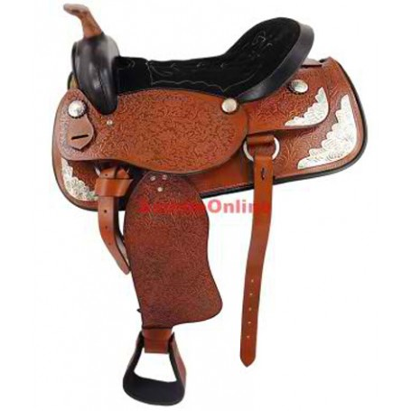 New 16 , 17 Brown Western Horse Saddle /W Tack