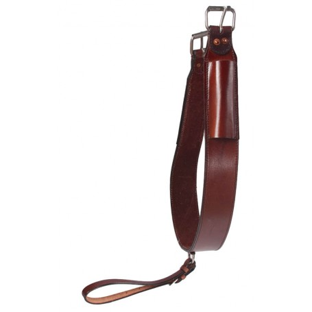 Premium Brown Smooth Leather Rear Cinch