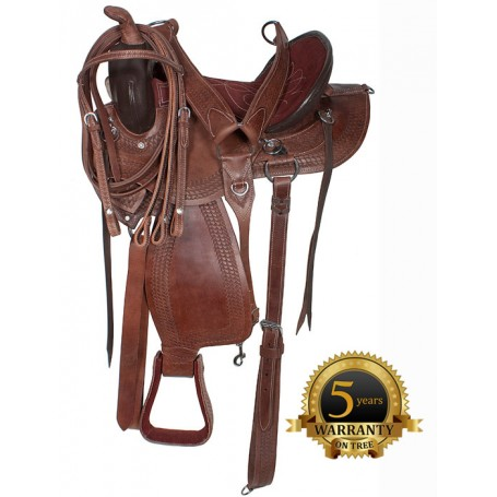 Amazingly Comfortable Brown Arabian Trail Endurance Saddle