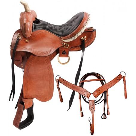 Arabian Horse Western Leather Horse Saddle Trail 15 18