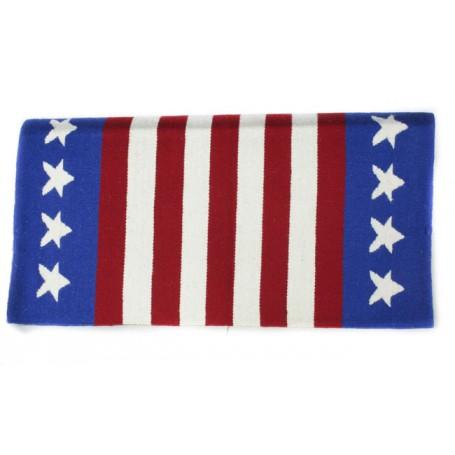 American Flag Stars & Stripes Premium Wool Saddle Blanket