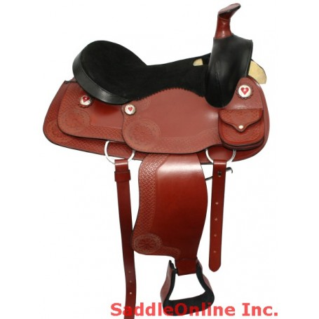15 Cherry Saddle W Tack & Carrying Case