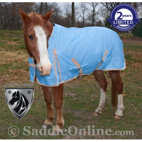 1200D Blue Turnout Waterproof Winter horse blanket 70 72