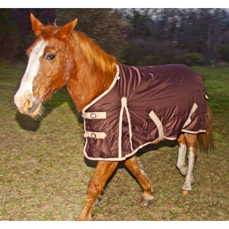 Brown Durable Turnout Waterproof Winter Horse Blanket 70 74