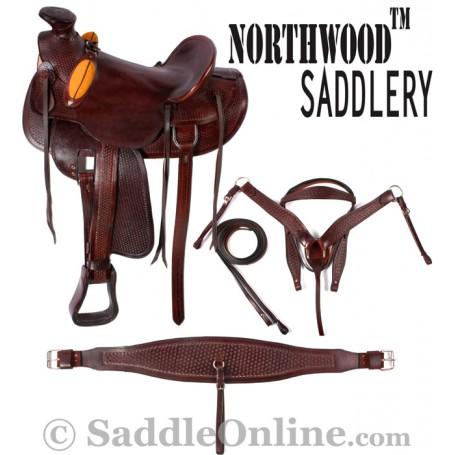 Wade Tree Cowboy Ranch Roper Western Horse Saddle 16