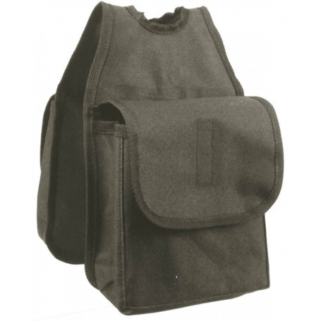 Western Saddle Horn Nylon Bags Black