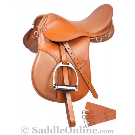 Sale Clearance English All Purpose Tan Saddle Set 16 18