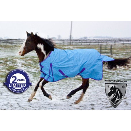 1200D Blue Purple Turnout Waterproof Horse Blanket 70 72
