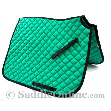 Premium Padded Green Black All Purpose English Horse Saddle Pad
