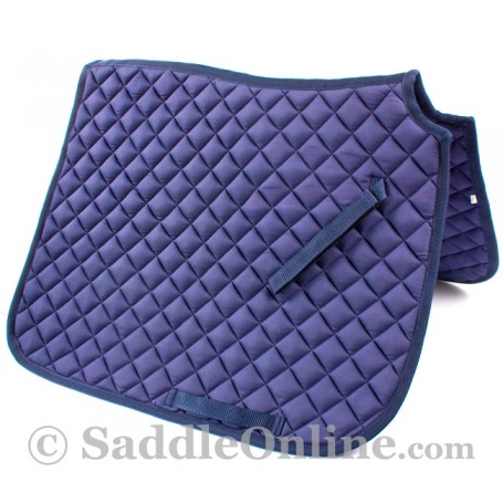 Premium Padded Navy Blue All Purpose English Horse Saddle Pad