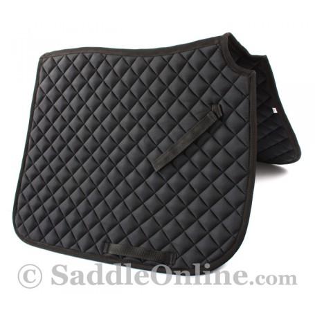 Premium Padded Black All Purpose English Horse Saddle Pad