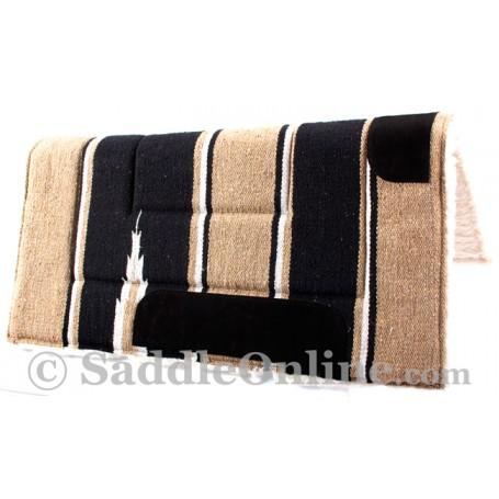 Black Tan Navajo Acrylic Fleece Western Horse Saddle Pad 32x32