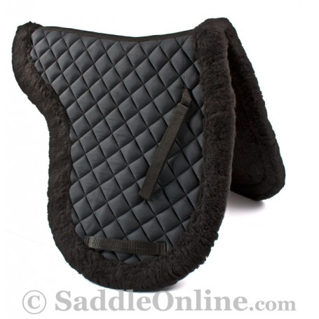 Premium Black Australian Fleece Horse Saddle Pad