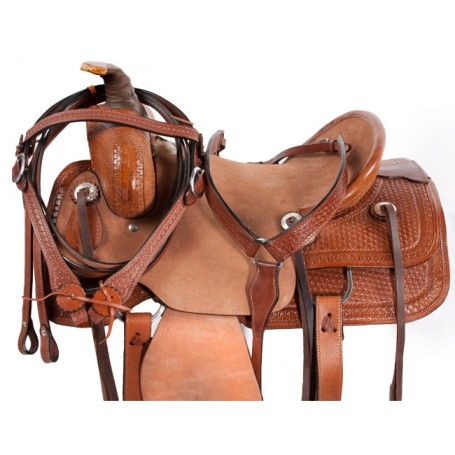Rough Out Ranch Work Roper Western Horse Saddle Tack 16