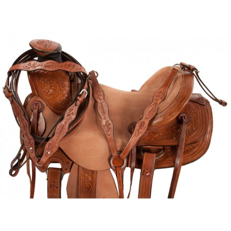 Wade Rough Out Ranch Work Roping Western Horse Saddle 16