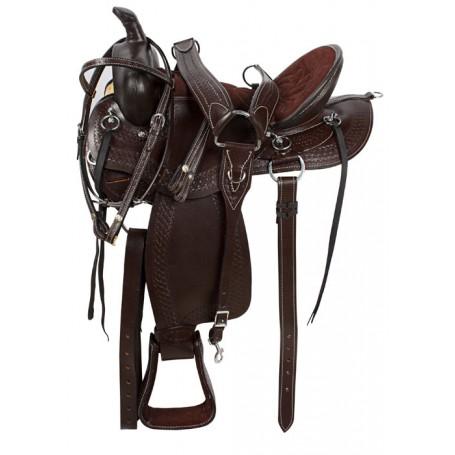 Comfy Brown Trail Endurance Horse Saddle Tack 16