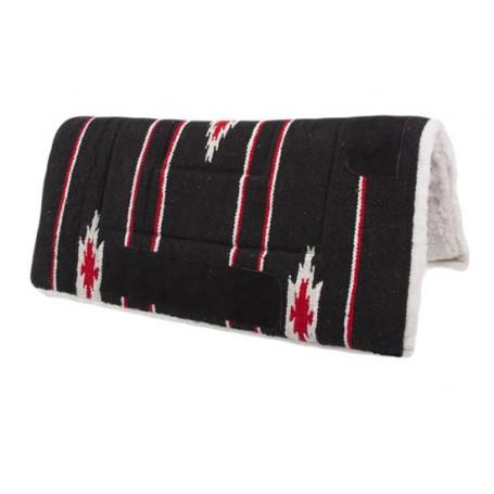 Black Red White Navajo Acrylic Fleece Western Saddle Pad