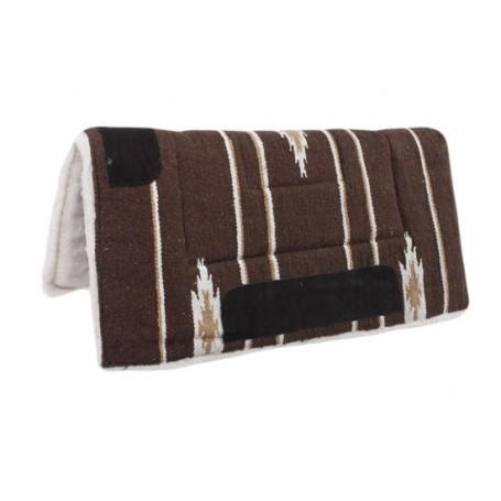 Brown Tan Navajo Acrylic Fleece Western Horse Saddle Pad