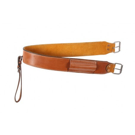 Smooth Chestnut Leather Rear Flank Back Cinch Girth