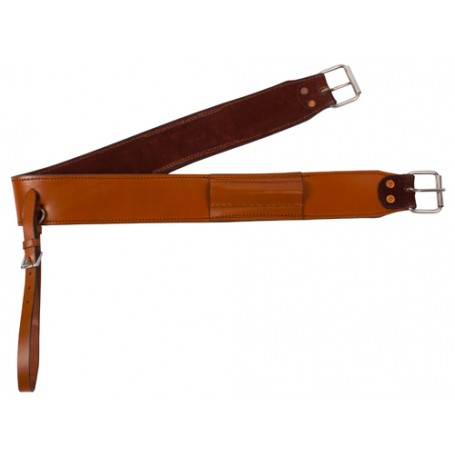 Tan Leather Horse Saddle Western Back Cinch Flank Girth