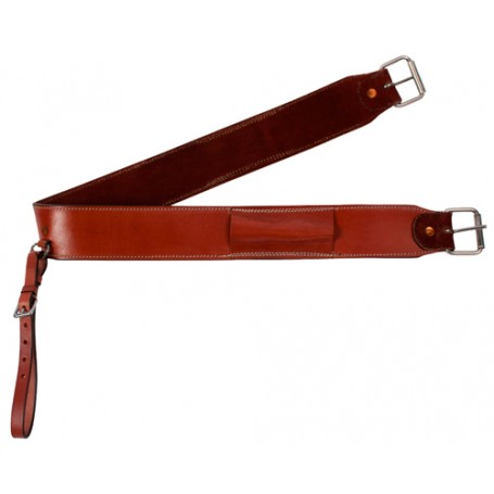 Mahogany Leather Western Horse Flank Back Girth Cinch