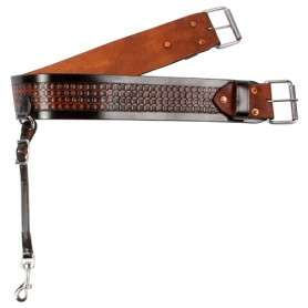 Black Brown Leather Rear Flank Back Cinch Girth