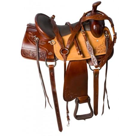 Western Pleasure Trail Horse Endurance Saddle Tack 16