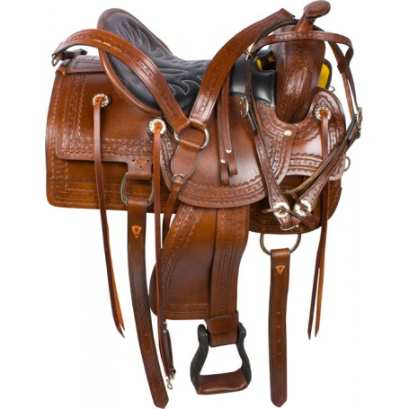 Brown Old Time Western Pleasure Trail Saddle 15 16