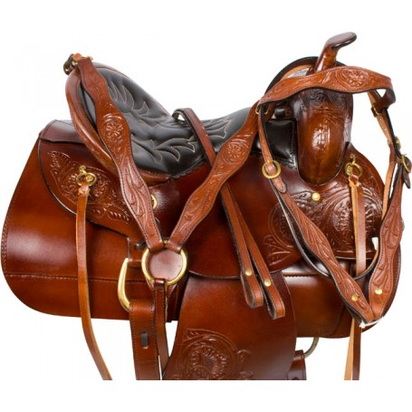 Comfortable Pleasure Trail Endurance Horse Saddle 16