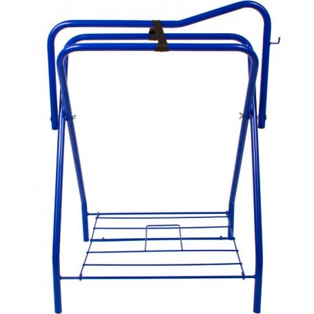 Blue Folding Horse Saddle Stand Rack