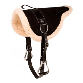 Black Natural Horsemanship Bareback Saddle With Stirrups