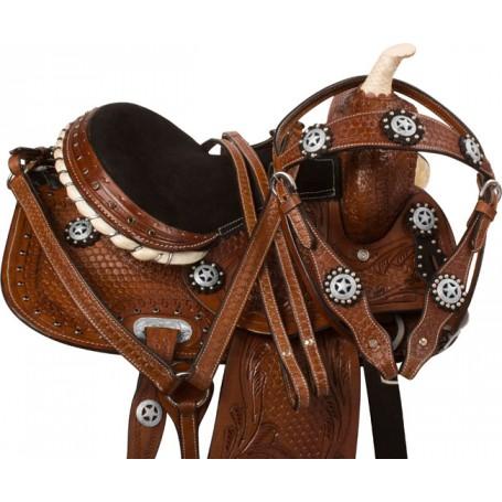 Black Brown Western Kids Youth Pony Saddle Tack 12 13