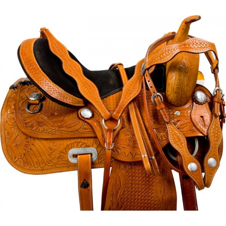Comfortable Western Pleasure Trail Horse Saddle Tack 18