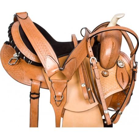Round Skirt Barrel Racing Western Horse Saddle Tack 14 16
