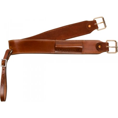 Brown Leather Rear Flank Western Back Cinch Girth