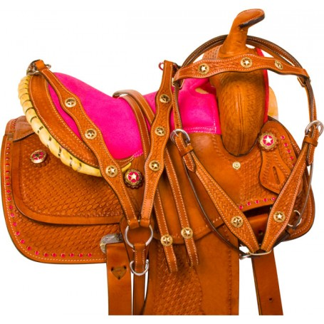 Cute Pink Pony Girl Youth Kids Show Saddle Tack 12 13