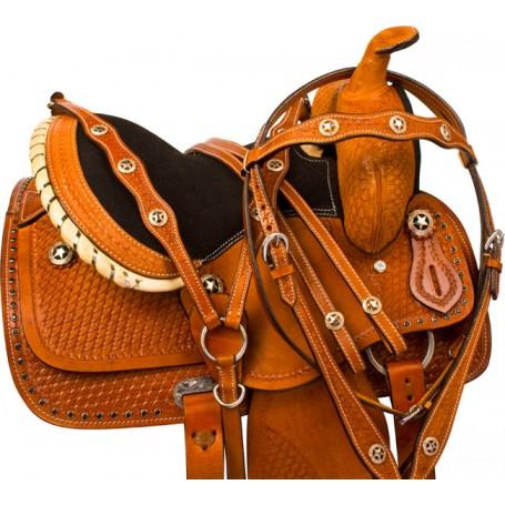Black Tan Miniature Horse Mini Western Saddle Tack 10