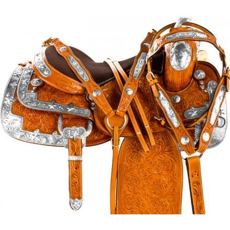 Blingy Silver Western Equitation Horse Show Saddle Tack 16